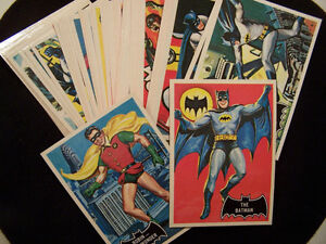 BLACK BAT BATMAN CARDS 1966 REISSUE SET 1989 55 CARDS