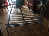 Kingsize metal bed frame and mattress/ free delivery