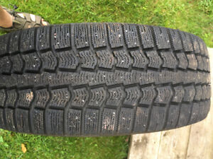 Pirelli 215/60 R16 95T Ice Control Snow tires with steel wheels