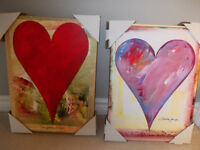 Heart Pictures on Canvas