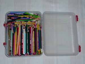 358 Colored Pencils .. As shown .. Tote included .. Cambridge Kitchener Area image 3
