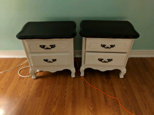 French provincial bedside tables