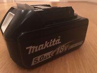 Makita 18V 5AH New battery