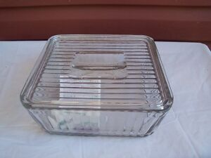 Vintage Style Glass Casserole Dish with lid!