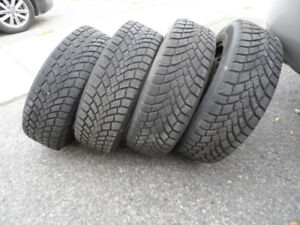 Set of 4,   195/65/15,   Winter Tires on Rims,  As New Condition