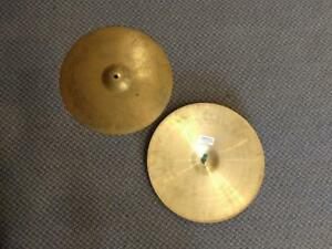 "Paiste 2002 cymbales hi-hat heavy 15"" - used/usagées"