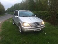 Mercedes ml270 special addition diesel auto 4x4 FHS 12 months mot