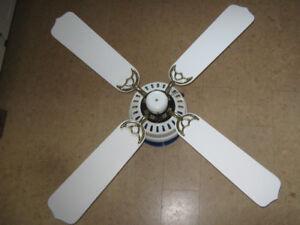 White 4  Blade Ceiling Fan