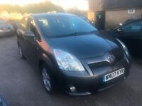 Toyota Corolla Verso 1.8 VVT-i T3 5dr£3,295 well looked after