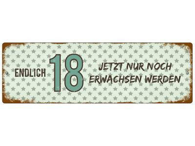 Kunststoffschild mit Saugnapf ENDLICH 18 Geburtstag Geschenk Autoschild ()