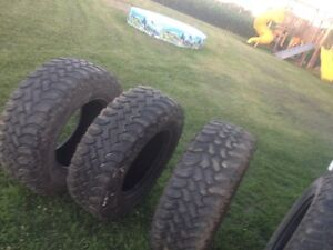 have 4 18 inch mud tires one is a bit low on tread