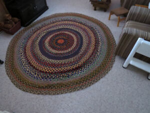 "Braided ""rag"" Rug. 93 inches in diameter"