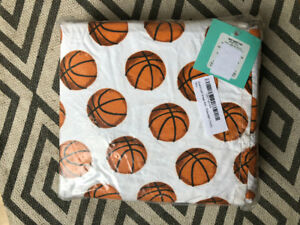 Basketball sheets set: twin. Brand-new, never opened.