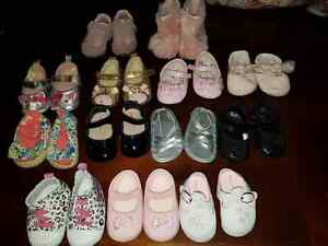 Newborn (0-3) shoes and dresses