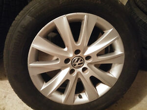 Volkswagen Mags and Tire 235-55-17 Bolt pattern 5x112