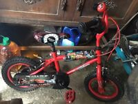 Disney lightning mcqueen (cars) bike with staberlisers