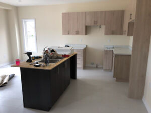 Full Kitchen with two tone island
