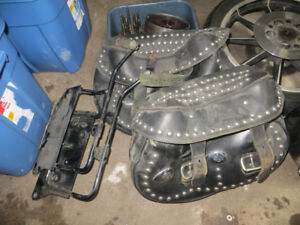 Older Harley Heritage Saddlebags and mounts