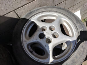 "300ZX OEM WHEEL RIM WHEELS 16"" with Azenis st115 tires"