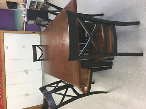Set of dining table and chairs