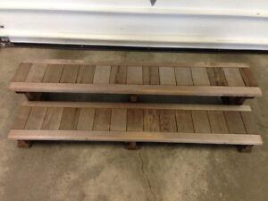 PRICE REDUCED !!  Cedar hot tub steps