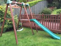 Wooden tp swing and slide set free