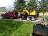 Small excavator for hire