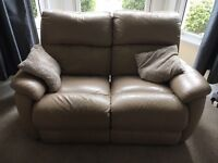2 seater & 3 seater leather reclining sofas