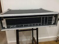 Behringer Ultragraph DEQ1024 in Rockcase 2U rack flight case