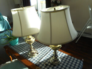 pair of lamps 26 inches high