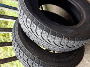 pair of 205/70r 15 winter tires, lots of thread