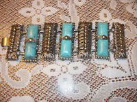 Turquoise & Silver Coloured Bracelet
