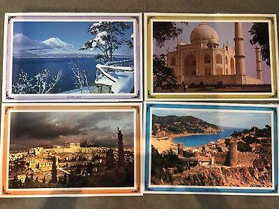 4- Destination Around The World Placemats Landmarks and their recipes Laminated (Landmarks Around The World)
