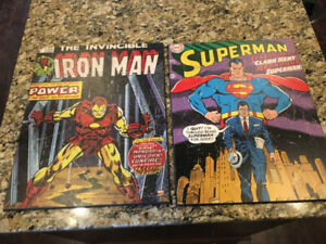 Superman and Iron Man Pictures $10 Each (or $15 Both)
