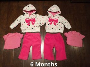 6 Months Carters Fleece Outfits