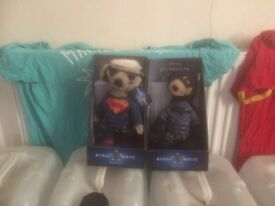 Batman and superman meerkats brand new condition