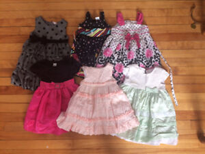Lot of 6 baby girl dresses (12-24 month, 2T)