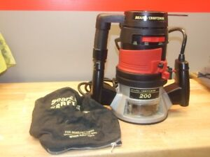 Sears Craftman Router Model 200  and Case