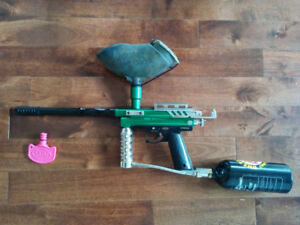 RAS Intruder Paintball Marker, Hopper, and 16OZ CO2 Tank