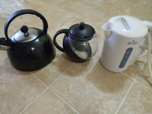 Kettle teapots and coffee