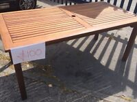 Solid teak tables . Various sizes. Prices as in picture... No chairs.....