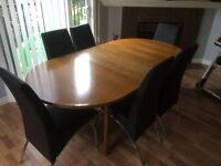 European Table with 6 chairs
