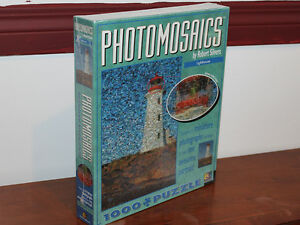 Photomosaics 1000 piece jigsaw puzzle Lighthouse by Robert S.