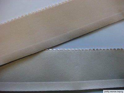 Gummiband  Bündchen Gürtel Meterware hellbeige 6,5cm breit MC16