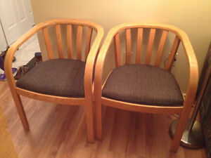 Wooden chair(s) with cushion seats for sale