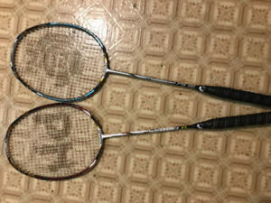Raquettes de badminton black knight