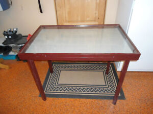 Display Case- Wood and Glass