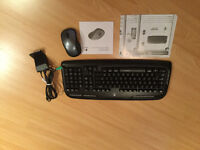 Logitech wireless keyboard and mouse.