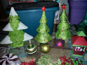 Christmas decor and ornaments.