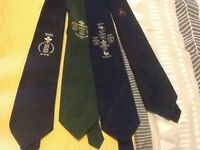 Collection of rugby ties and an Alcan tie.
